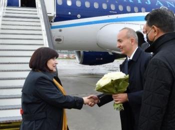 Сахиба Гафарова находится с официальным визитом в Словакии