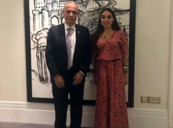 Лейла Алиева встретилась с резидентом-координатором ООН в Азербайджане Гуламом Исагзаи